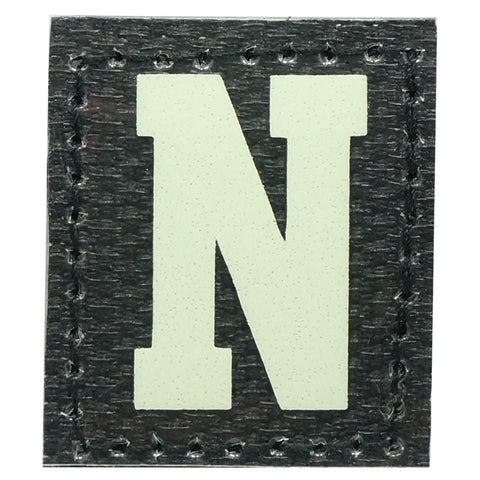 HGS LETTER N PATCH - GLOW IN THE DARK