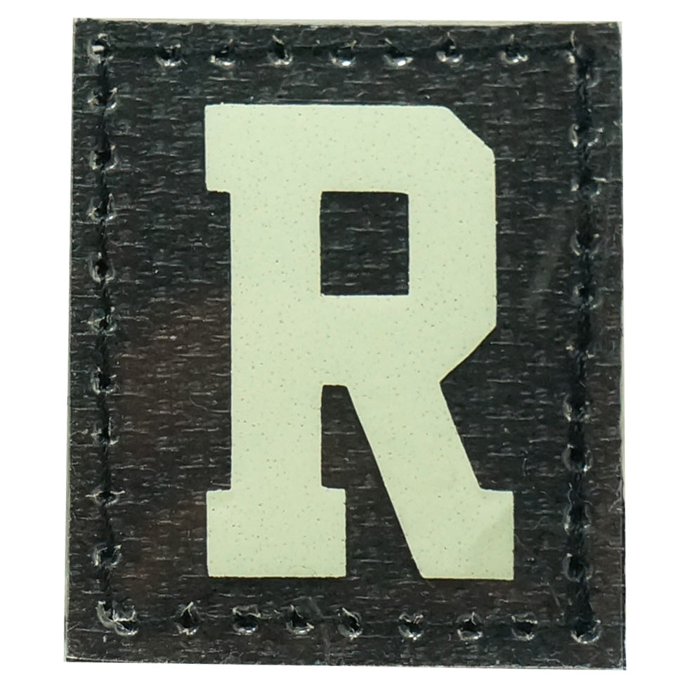 HGS LETTER R PATCH - GLOW IN THE DARK