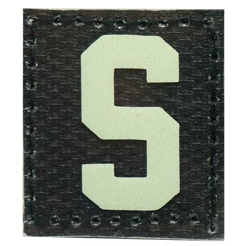 HGS LETTER S PATCH - GLOW IN THE DARK