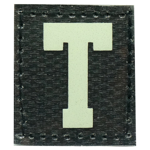 HGS LETTER T PATCH - GLOW IN THE DARK