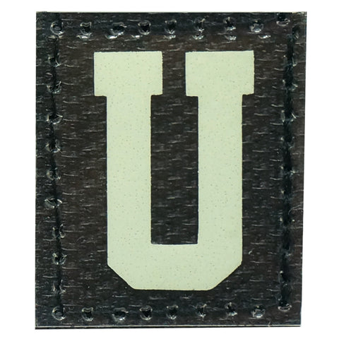 HGS LETTER U PATCH - GLOW IN THE DARK
