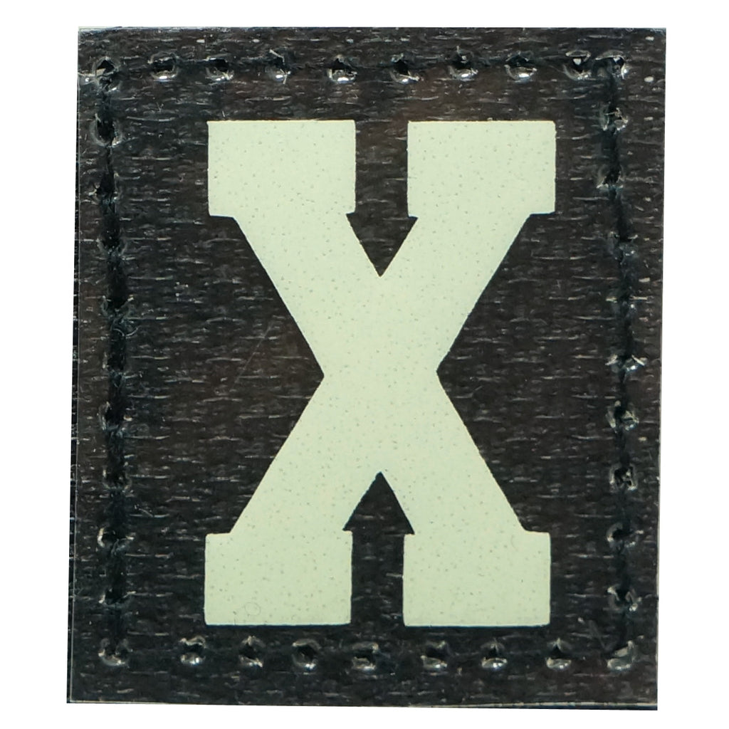 HGS LETTER X PATCH - GLOW IN THE DARK
