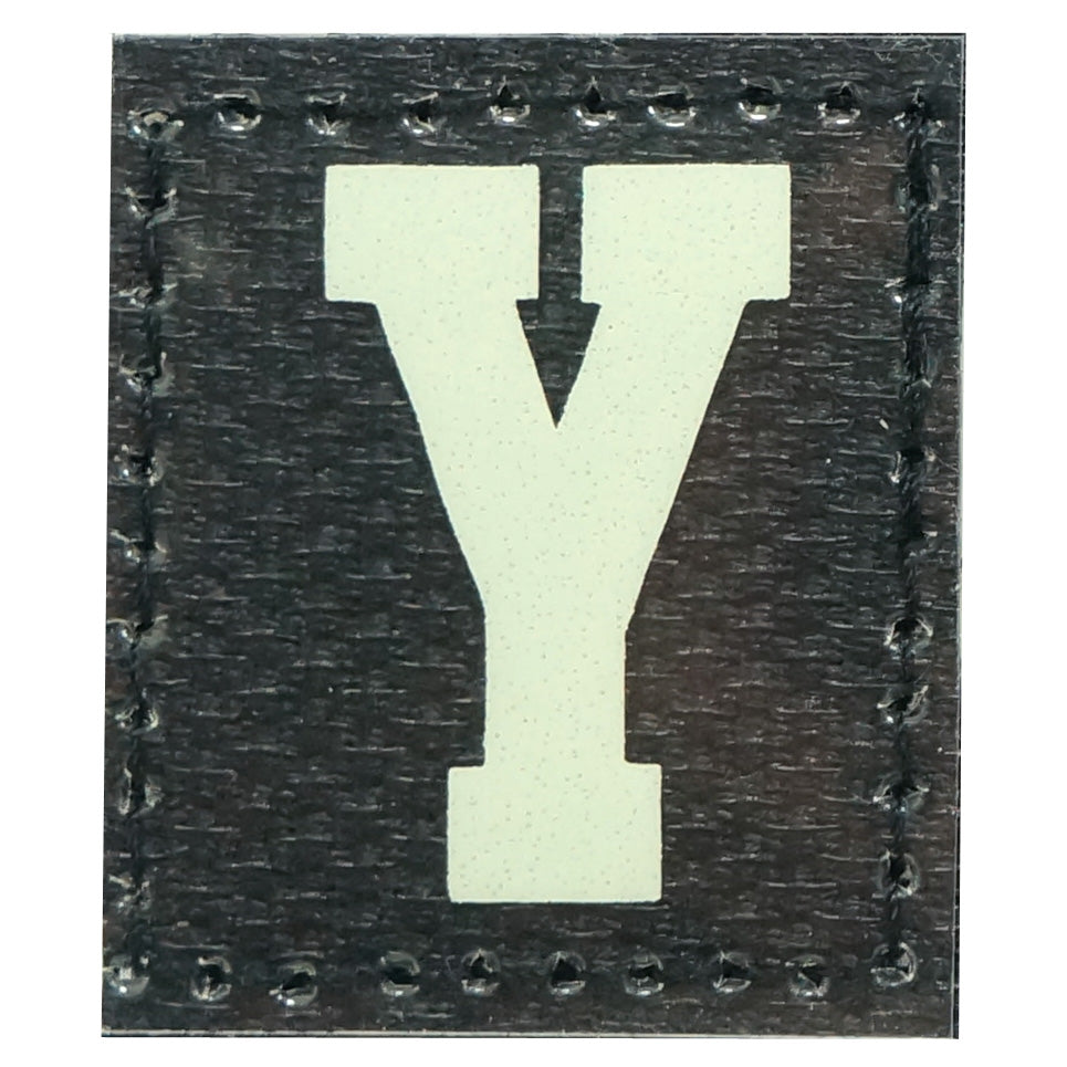 HGS LETTER Y PATCH - GLOW IN THE DARK