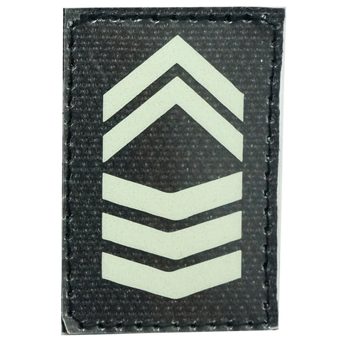GLOW IN THE DARK RANK PATCH - 1ST SERGEANT