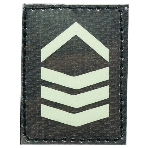 GLOW IN THE DARK RANK PATCH - 2ND SERGEANT