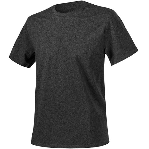 HELIKON-TEX COTTON T-SHIRT - MELANGE BLACK/GREY
