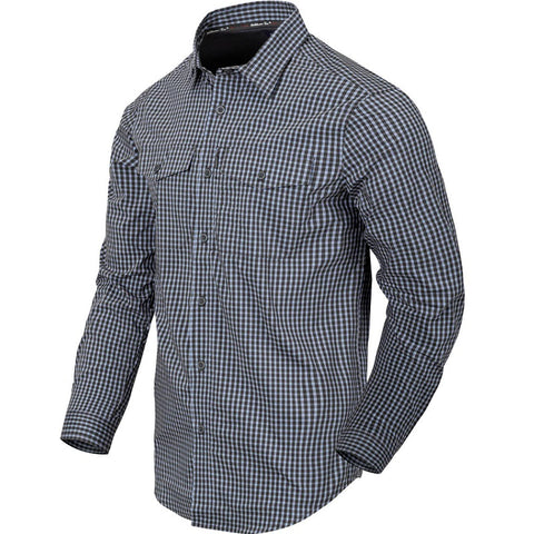 HELIKON-TEX COVERT CONCEALED CARRY SHIRT - PHANTOM GREY CHECKERED