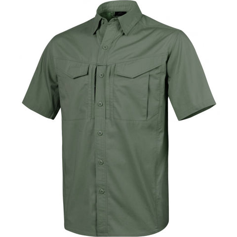 HELIKON-TEX DEFENDER MK2 SHORT SLEEVE SHIRT - POLYCOTTON RIPSTOP - OLIVE GREEN