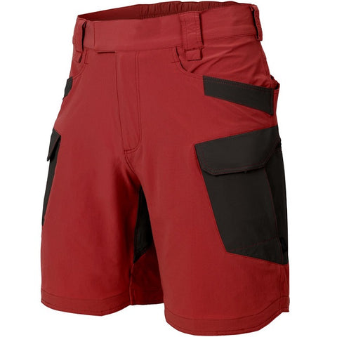 "HELIKON-TEX OTS (OUTDOOR TACTICAL SHORTS) 8.5""® - VERSASTRECTH® LITE - CRIMSON SKY / BLACK A"