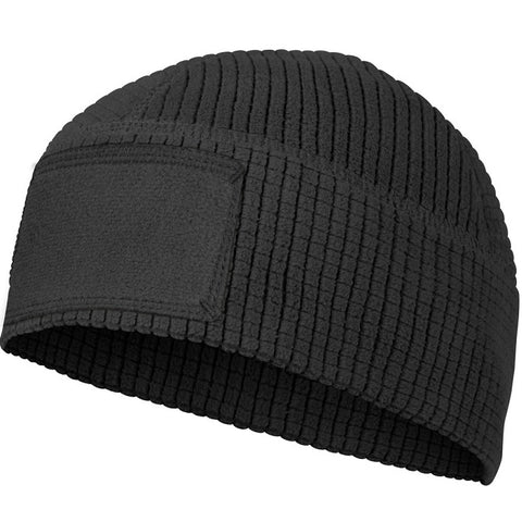 HELIKON-TEX RANGE BEANIE CAP® - GRID FLEECE - BLACK