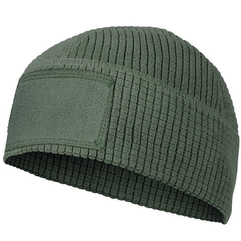 HELIKON-TEX RANGE BEANIE CAP® - GRID FLEECE - OLIVE GREEN