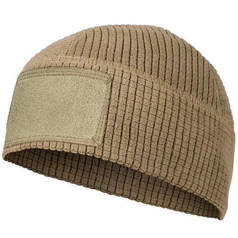 HELIKON-TEX RANGE BEANIE CAP® - GRID FLEECE - COYOTE