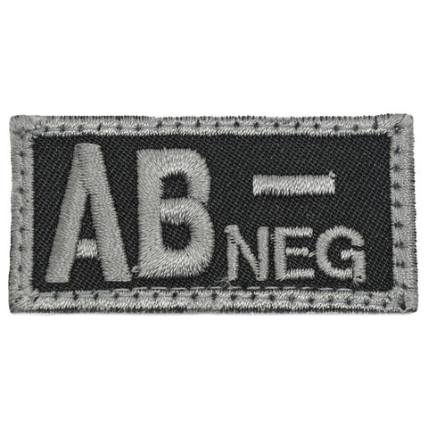 HGS BLOOD GROUP PATCH - AB NEGATIVE (BLACK FOLIAGE)