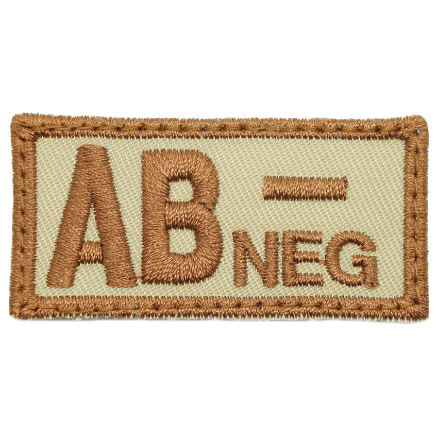 HGS BLOOD GROUP PATCH - AB NEGATIVE (KHAKI)