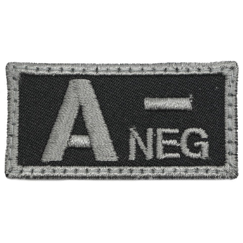 HGS BLOOD GROUP PATCH - A NEGATIVE (BLACK FOLIAGE)