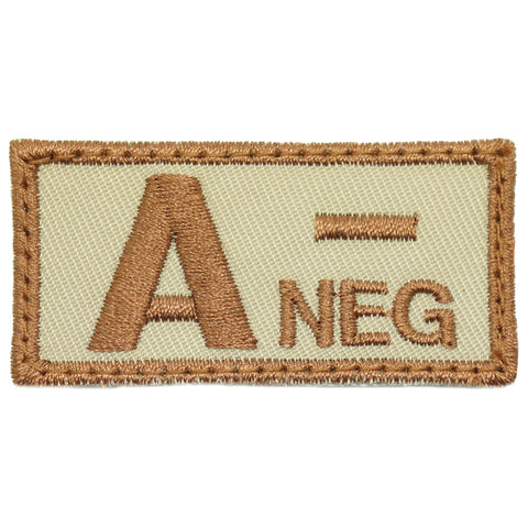 HGS BLOOD GROUP PATCH - A NEGATIVE (KHAKI)