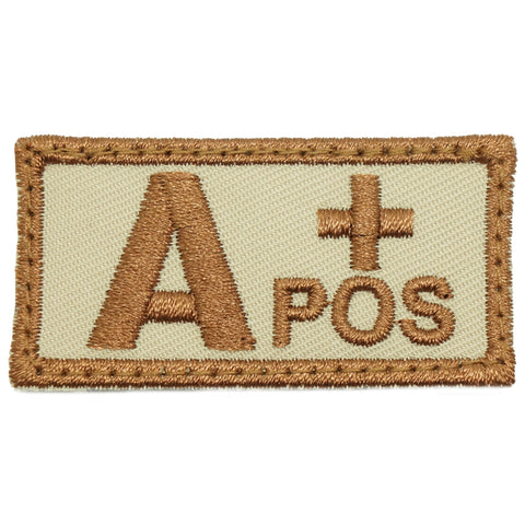 HGS BLOOD GROUP PATCH - A POSITIVE (KHAKI)