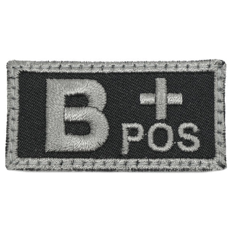 HGS BLOOD GROUP PATCH - B POSITIVE (BLACK FOLIAGE)