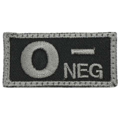 HGS BLOOD GROUP PATCH - O NEGATIVE (BLACK FOLIAGE)
