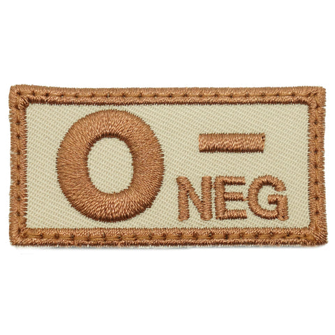 HGS BLOOD GROUP PATCH - O NEGATIVE (KHAKI)