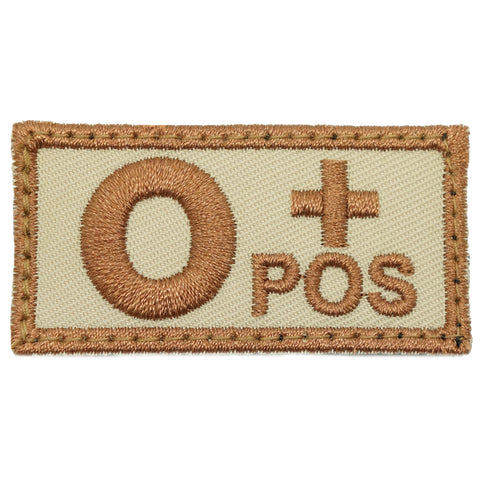 HGS BLOOD GROUP PATCH - O POSITIVE (KHAKI)