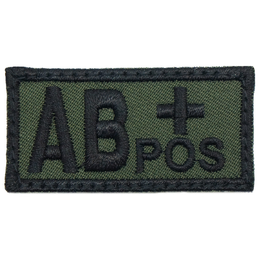 HGS BLOOD GROUP PATCH - AB POSITIVE (OD GREEN)