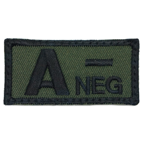 HGS BLOOD GROUP PATCH - A NEGATIVE (OD GREEN)