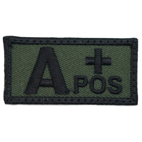 HGS BLOOD GROUP PATCH - A POSITIVE (OD GREEN)
