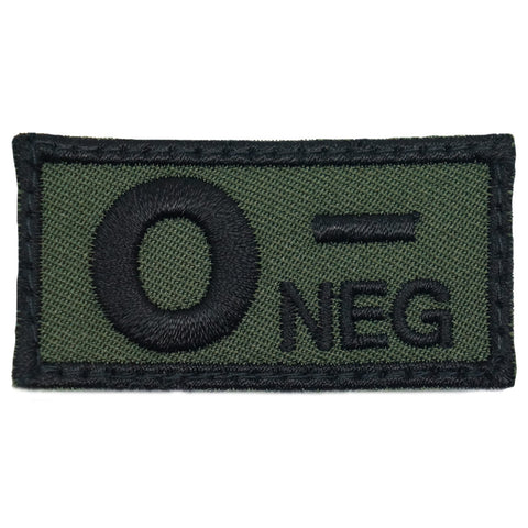 HGS BLOOD GROUP PATCH - O NEGATIVE (OD GREEN)