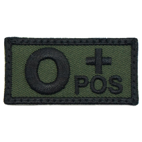 HGS BLOOD GROUP PATCH - O POSITIVE (OD GREEN)