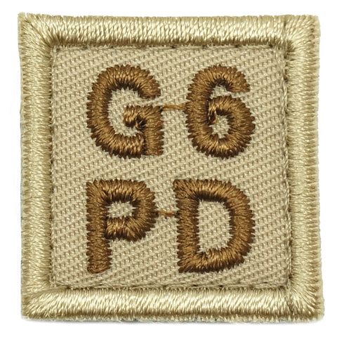 "HGS BLOOD GROUP 1"" PATCH, G6PD (KHAKI)"