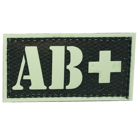 HGS GLOW IN THE DARK BLOOD TYPE PATCH (AB+)