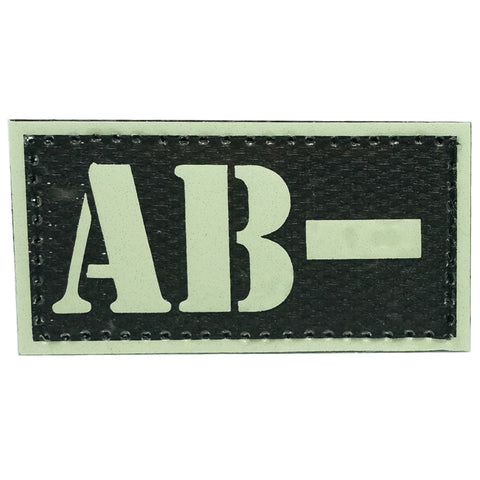 HGS GLOW IN THE DARK BLOOD TYPE PATCH (AB-)