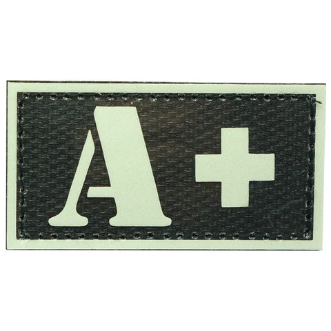 HGS GLOW IN THE DARK BLOOD TYPE PATCH (A+)