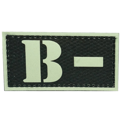 HGS GLOW IN THE DARK BLOOD TYPE PATCH (B-)
