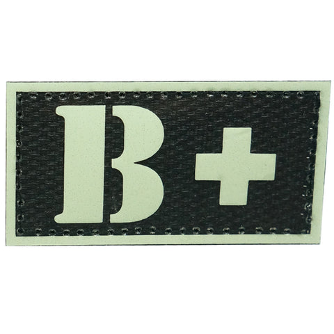 HGS GLOW IN THE DARK BLOOD TYPE PATCH (B+)