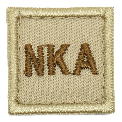 "HGS BLOOD GROUP 1"" PATCH, NKA (KHAKI)"
