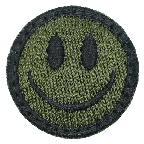 SMILEY FACE PATCH - OD GREEN