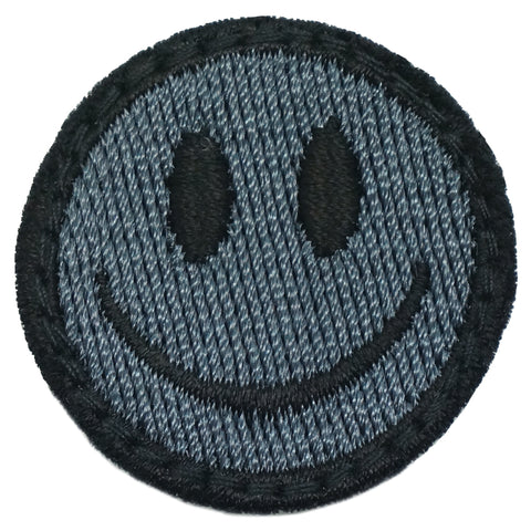 SMILEY FACE PATCH - GRAY