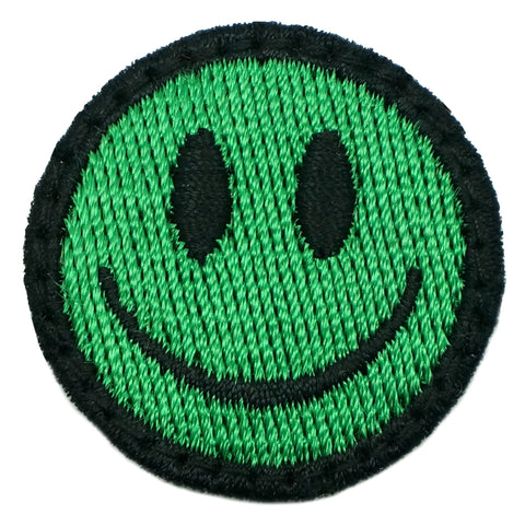 SMILEY FACE PATCH - KELLY GREEN