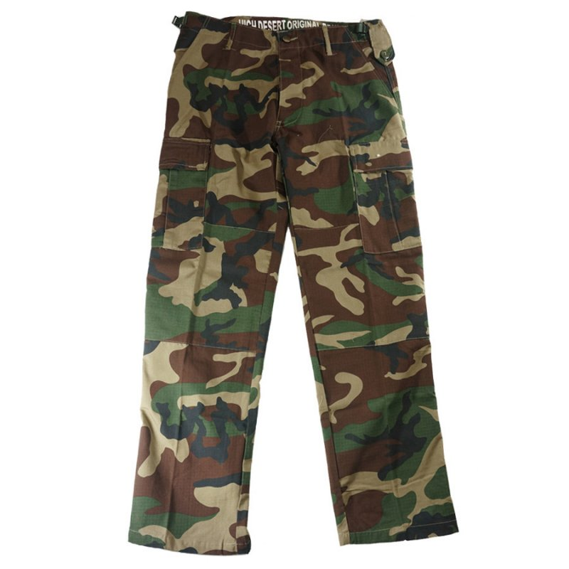HIGH DESERT TACTICAL B.D.U CARGO PANTS - WOODLAND CAMO 2014 - Hock Gift Shop | Army Online Store in Singapore