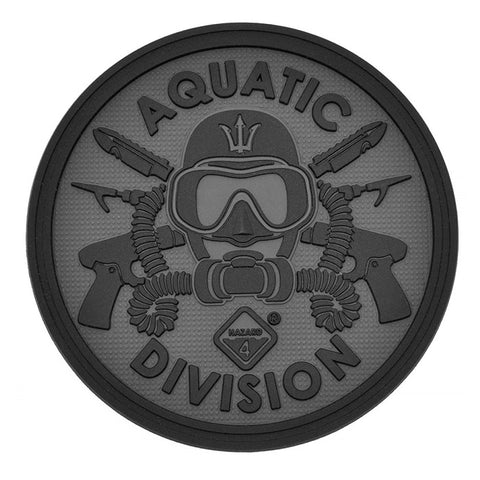 HAZARD 4 AQAUTIC DIVISION PATCH PVC - BLACK