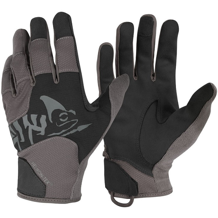 HELIKON-TEX ALL ROUND TACTICAL GLOVES - BLACK / SHADOW GREY A