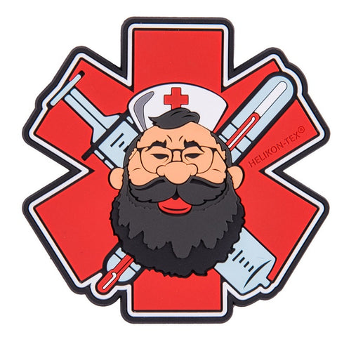 "HELIKON-TEX ""BEARDMAN MEDIC"" PATCH - PVC - RED"