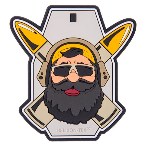 "HELIKON-TEX ""BEARDMAN RANGE"" PATCH - PVC - GREY"