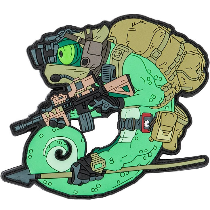 HELIKON-TEX CHAMELEON OPERATOR PATCH (PVC) - OLIVE GREEN