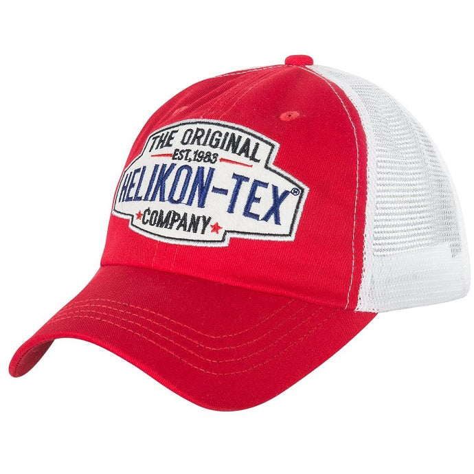 HELIKON-TEX TRUCKER LOGO CAP - COTTON TWILL - RED/WHITE