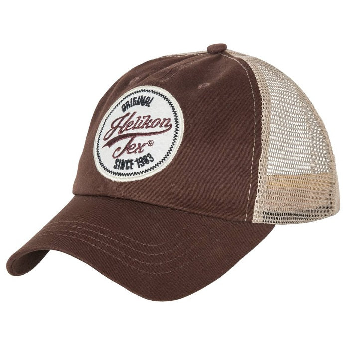 HELIKON-TEX TRUCKER LOGO CAP - COTTON TWILL - MUD BROWN