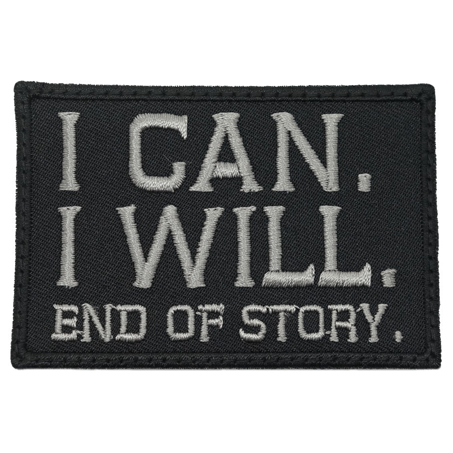 I CAN. I WILL. PATCH - BLACK FOLIAGE