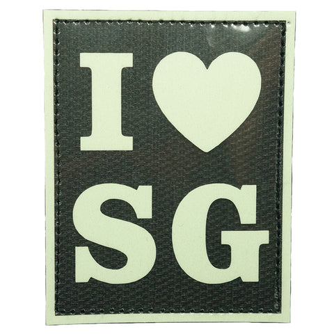 I LOVE SG PATCH - GLOW IN THE DARK